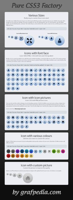 Icons made only with CSS