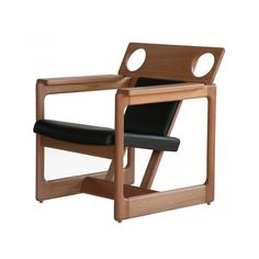 Cuiaba Sergio Rodrigues.silla madera perforada circulos