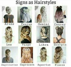 zodiac signs hairstyle / hairstyle zodiac - hairstyle zodiac sign - zodiac signs hairstyle - hairstyle for zodiac sign - hairstyle according to zodiac sign - zodiac hairstyle chart - hairstyle according to zodiac - gemini zodiac hairstyle Zodiac Signs Chart, Zodiac Signs Sagittarius, Zodiac Sign Traits, Zodiac Art, Zodiac Star Signs, Cute Hairstyles, Braided Hairstyles, Zodiac Clothes, Zodiac Sign Fashion
