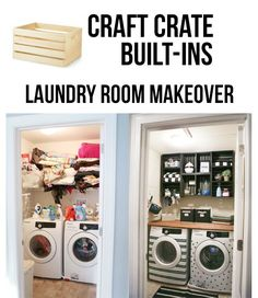 Easy and Inexpensive Laundry Room Makeover. #LaundryRoom #RoomMakeover