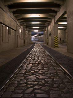 Bahntunnel Tempelhof - Flughafen Berlin-Tempelhof –