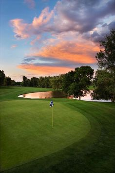 Inverness Golf Club, in Colorado, is our #GolfCourseOfTheDay! Watch out for hole # 13! There's a creek AND hidden pond to avoid!   Rock Bottom Golf #RockBottomGolf