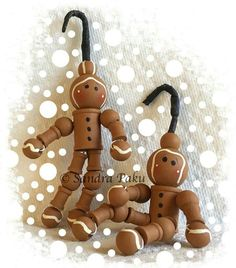 Cute, wooden sewing spools and wooden all painted & made into a Christmas Ornament.