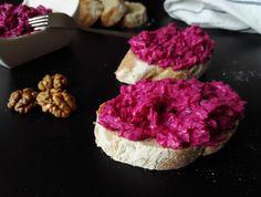 Pikantní pomazánka z červené řepy Raspberry, Salads, Cheesecake, Food And Drink, Low Carb, Dishes, Fruit, Cooking, Desserts