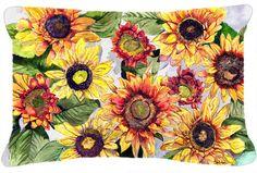 Sunflowers Indoor/Outdoor Throw Pillow