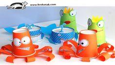 DIY Animales con vasos y tarrinas de papel, reciclamos los vasos de cumpleaños.