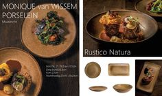 rustico naturel borden, vierkante schaal en diep bord
