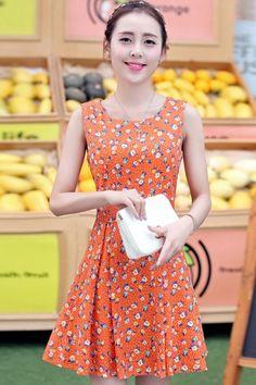 Charming Sleeveless Floral Mini Dress