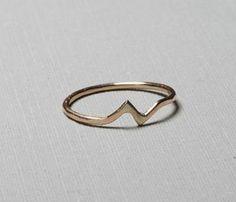 Gold Bolt Ring