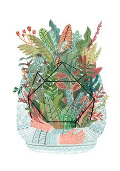 Teken-ing 'Kaart Plant Love 15 x 18 cm'