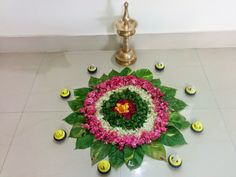 Durga Designs: Flower Rangoli