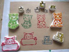 eraser stamp...for Brownies badge