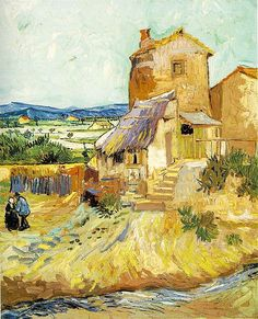Vincent van Gogh (1853-1890) - The Old Mill (1888)  I love VvGs color days. Of course I love the monotone days also so maybe I just love his painting style and subjects. Didn't always, but the more you look the more there is to love.