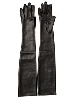 RICK OWENS - LEATHER LONG GLOVES