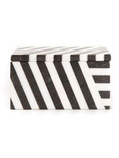 KELLY WEARSTLER black and white fractured marble box: http://rstyle.me/~3EOUq #homedecor