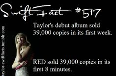 I love how far she's come.  Also, I don't know a whole lot about what the 'average' number for debut album selling is, but considering she isn't from the X Factor and the only thing she had to establish fans were the singles, I find this pretty amazing.  I still love 1D, but they kinda were lucky with a foot in the door, like any other artist from shows like that.