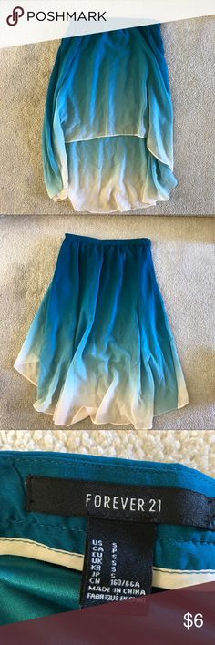 HIGH LOW OMBRÉ FOREVER 20 SKIRT SIZE SMALL Ombré high low skirt size small worn once Forever 21 Skirts High Low