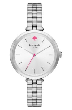 Definitely need this darling Kate Spade watch from the Anniversary Sale! A slim bracelet and pink details add a feminine touch to this classic accessory.
