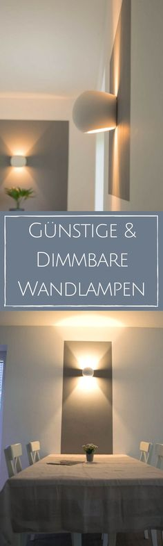 Dimmbare LED Wandlampen - Unsere Wandleuchten fürs Wohnzimmer Wall lamps for dimming are perfect for a cozy atmosphere in the living room - it was not so easy to find ones that can also be equipped wi Living Room Lighting, Bedroom Lighting, Wall Sconce Lighting, Wall Sconces, Cozy Living Rooms, Living Room Bedroom, Bedroom Lamps, Bedroom Furniture, Furniture Design