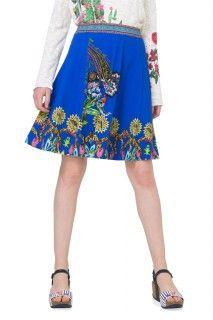 Desigual modrá sukně Henry - 2199 Kč Knit Shorts, Rock, Short Skirts, Tommy Hilfiger, Dj, Calvin Klein, Ss 17, Floral, Blue