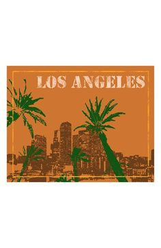 Green Leaf Art 'Los Angeles' Wall Art