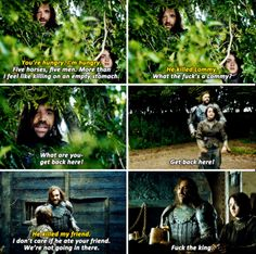 Gosh, I love the Hound. Even with his foul mouth, his lines are comedy gold.