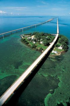 The Seven-Mile Bridge in the Florida Keys