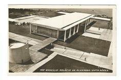 Antigo Cartão Postal: Vista Aérea do Palácio da Alvorada - Brasília.