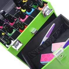 SHANY Color Matters - Nail Accessories Organizer and Makeup Train Case Makeup Train Case, Makeup Case, Nail Accessories, Nail Tools, Nail Care, Travel Size Products, You Nailed It, Makeup Brushes, The Help