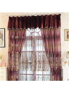 Romantic European Style Embossed Embroidery Purple Custom Sheer Curtain #home decor #curtains #interior #design