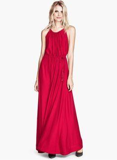 Red Spaghetti Strap Drawstring Pleated Dress - Fashion Clothing, Latest Street Fashion At Abaday.com