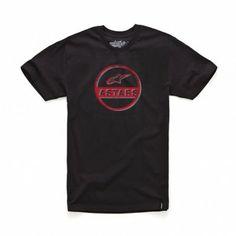 Camiseta Alpinestars Circle Twin Heritage Custom Tee Black #Camiseta #Alpinestars
