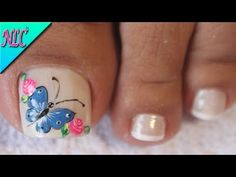 Heat Up Your Life with Some Stunning Summer Nail Art Butterfly Nail Designs, Butterfly Makeup, Butterfly Nail Art, Toe Nail Designs, Manicure, Pedicure Nails, Nail Spa, Toe Nail Color, Toe Nail Art