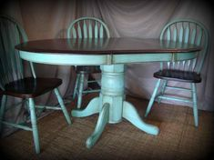 Kitchen table makeover Refinished Refinishing Wood Chairs Antique Old Wooden High Chair By Barn Chic Furniture Projects, Furniture Makeover, Diy Furniture, Furniture Websites, Furniture Removal, Inexpensive Furniture, Furniture Stores, Furniture Design, Kitchen Table Makeover