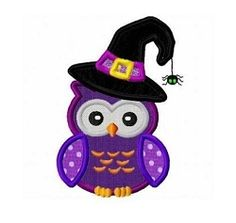 Witch Owl Applique - 3 Sizes! | What's New | Machine Embroidery Designs | SWAKembroidery.com Fun Stitch