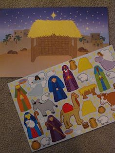 When You Rise: Church Busy Bag Idea: Make Your Own Magnetic Nativity Scene