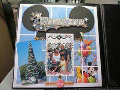 Disney Scrapbook Layout...Christmas
