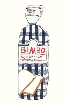 Illustration of the old Bimbo Bread bag in Mexico. Art Design, Illustration Sketches, Illustrations Posters, Drawing Illustrations, Food Illustrations, Graphic Design Illustration, Pattern Illustration, Illustration Art, Illustration Food