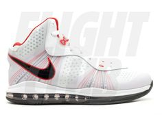 quality design 006d4 1afa7 Lebron 8 V 2 - Nike - 429676 100 - white black-sport red   Flight Club