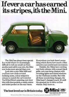 Mini Austin Morris Retro A3 Poster Print from Classic 70's Advert   eBay