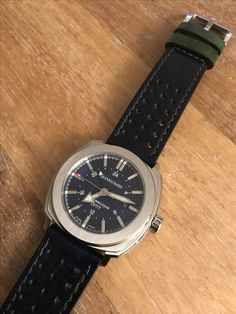 My beloved jeanrichard with a new costume strap. Omega Watch, Watches, Leather, Costume, Accessories, Fancy Dress, Wristwatches, Clocks, Costumes