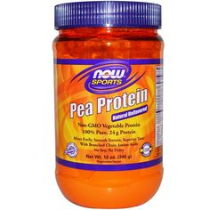 Buy Now Foods Pea Protein Natural Unflavoured 340 g at Megavitamins Online Supplement Store Australia.Pea Protein Mixes Easily, Smooth Texture, Superior Taste.Pea Protein is a Non-GMO vegetable protein with Branched Chain Amino Acids.
