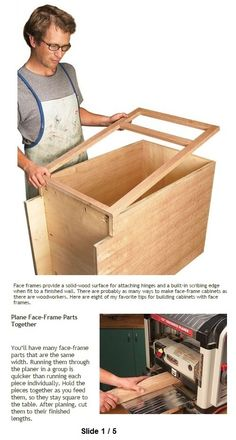 8 Tips for Building with Face Frames Face Framing, Wood Cabinets, Woodworking Tips, Wood Working, Storage Chest, Workshop, Projects, Furniture, Ideas