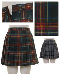Green and Gray Seifuku Skirt