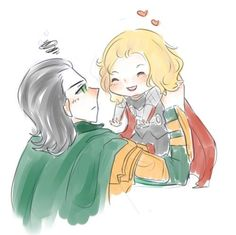 maybe Loki goes back in time to kill Thor but he's like nope can't do it too cute