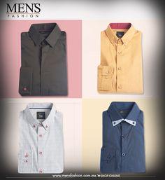 ¡Checa las nuevas camisas que tenemos para ti! Son ideales para esta temporada, con detalles de color para marcar un look vanguardista!  Cómpralas aquí: www.mensfashion.com.mx  #MenInMotion
