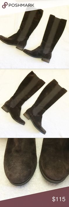 Cole Haan Knee High Boots Used. Good condition. No stains. Small chip on the heels. Comes with the box. Cole Haan Shoes