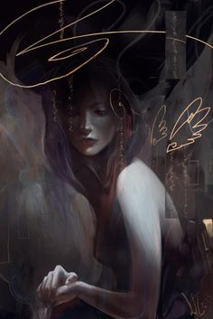 Angel in the machine Digital Art by Sida Chen