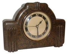 1930's Art Deco original bakelite clock by the Ferranti company.