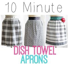 10 Minute Dish Towel Apron, I am making this for David, he always forgets where he put them.